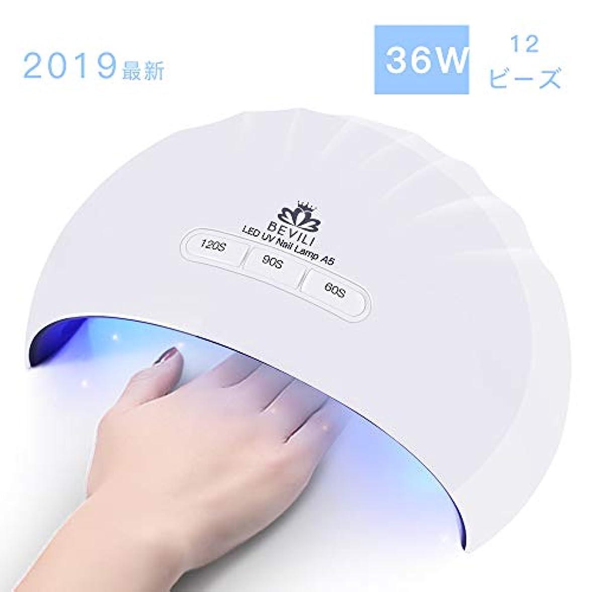 服別れる革新硬化用UV/LEDライトジェルネイルライト 肌をケア センサータイマー付き UVライト 速乾UV ネイル ハンドフット両用 ネイル led ライト USB対応