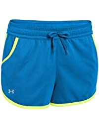 Under ArmourレディースメッシュセミフィットTie Waist Running Shorts