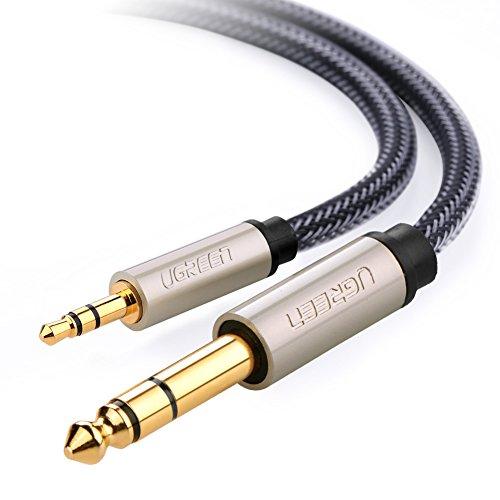 UGREEN オーディオ変換ケーブル 3.5mmミニプラグ to 6.35mm標準プラグ オス-オス ステレオケーブル 1.5m