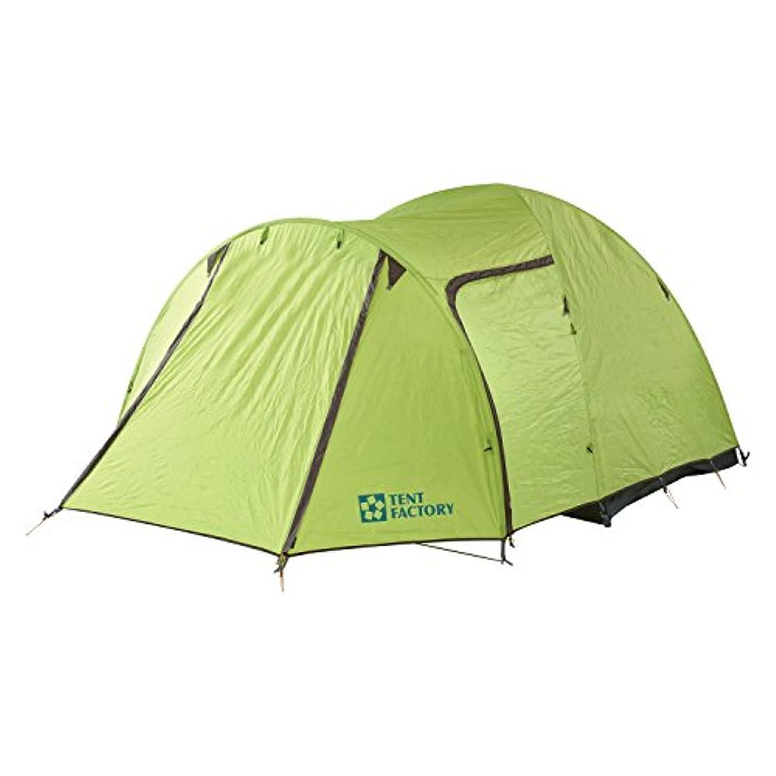 プログレッシブ聴覚暫定のテントファクトリー テント グリーンサイドドームテント EX4 3-4人用 TF-GSEX4
