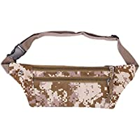Fashion Camouflage Waist Pack, Outdoor Sports Waterproof Pockets for Running Hiking Cell Phone Bag