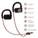 Bluetooth 4.1 ワイヤレスイヤホン スポーツイヤホン 首掛け IP67X防汗防滴 CVC6.0 ノイズキャンセリング 高音質 ハンズフリー 通話可 最大約8時間再生 多機種対応 耳に優しい 運動 ランニング用