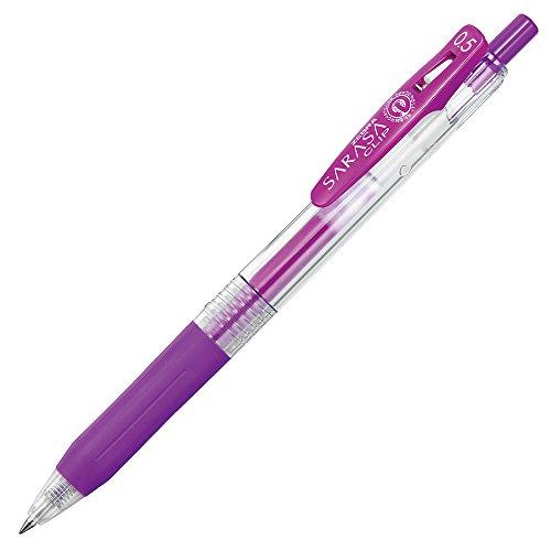 ゼブラ ジェルボールペン サラサクリップ 0.5 紫 10本