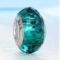European Colorful Lampwork Glass Beads Charm Bead Fit Pandora for Girl DIY Bracelets & Bangles,17