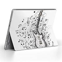 Surface go 専用スキンシール サーフェス go ノートブック ノートパソコン カバー ケース フィルム ステッカー アクセサリー 保護 音楽 音符 ギター 011720