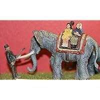 LangleyモデルCircus Elephant Ride + Keeper OOスケール未塗装モデルキットz01