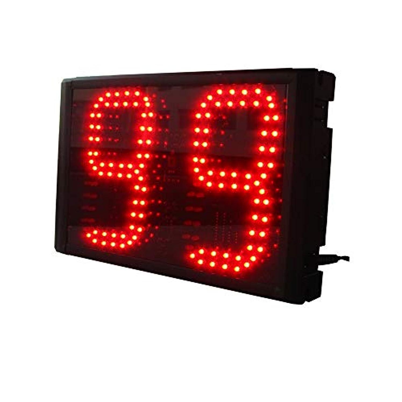 機動ヒゲ写真のスコアボードとタイマー 家庭用リモコン付き大型LEDインターバルタイマートレーニングジムカウントダウンストップウォッチ スポーツタイマー (色 : Black, Size : 6-inch)