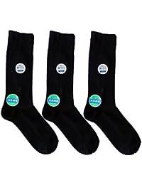 日本製靴下 綿100% 消臭ビジネス ソックス 黒 3足セット 24-27cm