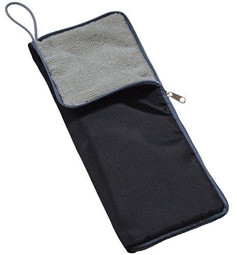【Amazon.co.jp限定】 超吸水 マイクロファイバー 傘カバー ブラック×グレー