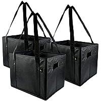 Extra Largeスーパー強い、プレミアム品質ストレージビンバッグ、折りたたみ可能なストレージボックスバッグ – 3のパック – 14.5 W x 10h X 10d
