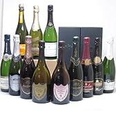 噂のドンペリ飲み比べ12本セット(ドン ペリニヨン ロゼ ドンペリニヨン白+ロジャーグラートロゼ750+世界の厳選スパークリングワイン(辛口6本 甘口3本))750ml×12本