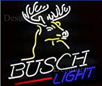 Desung新しいBusch Deer Light Neon Sign Man Cave Neon Signsスポーツバーパブビールネオンライトランプガラスネオンライトcx12 17 Inches