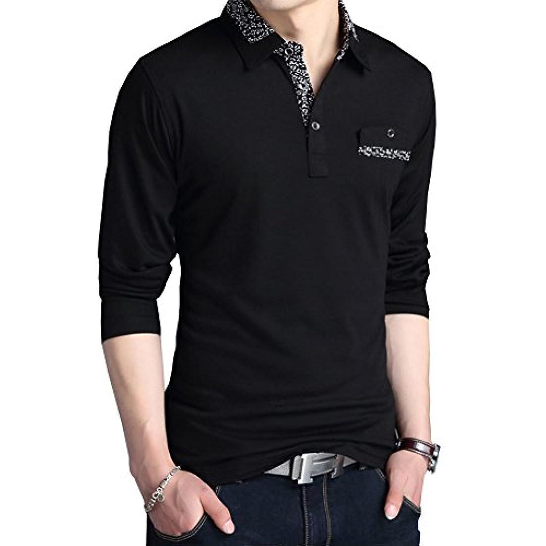 別々に調査教義YFFUSHI メンズ ポロシャツ tシャツ ゴルフウェア 長袖 全10色 M-3L 無地 綿 カジュアル お洒落 正規品 上質 フォーマル 大きいサイズ