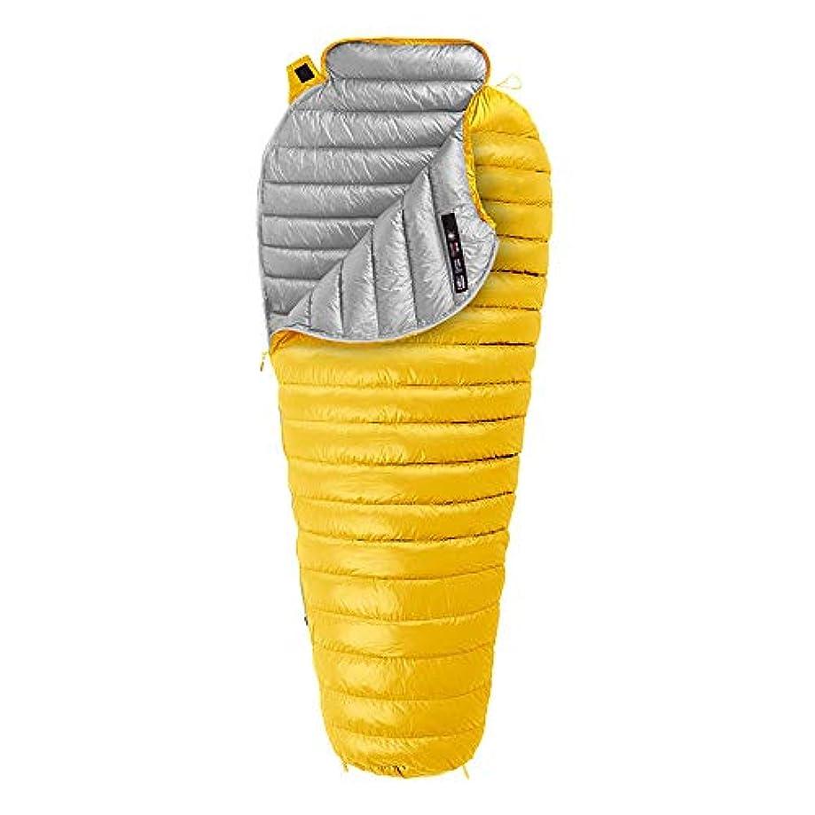 細心のランドマークセットアップ屋外防水暖かさ寝袋ダウンキャンプ付き軽量収納袋 (Color : イエロー, Size : One Size)