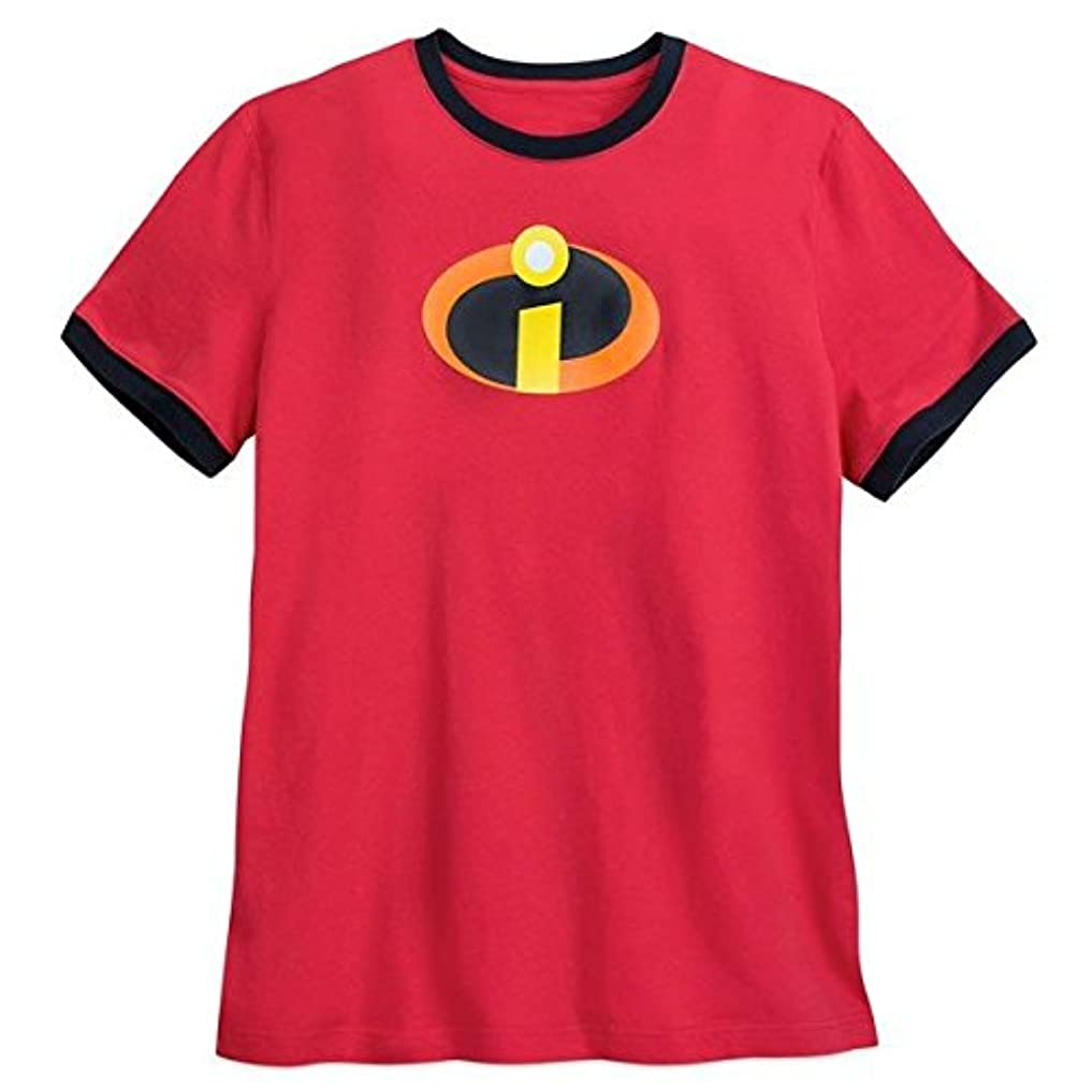 引退した牧草地究極のDisneyIncredibles Logo Ringer T-Shirt for Men Red