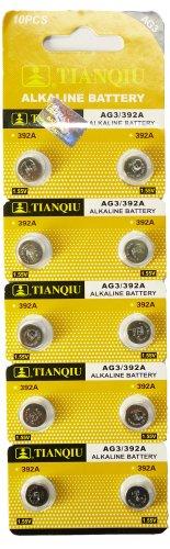Qiu TIANQIU製 アルカリボタン電池 LR41 AG3 10個入り1パック