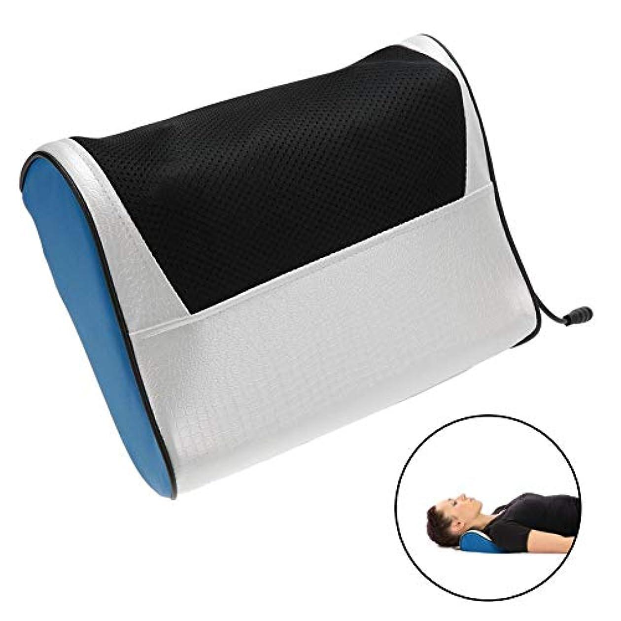 おとこスイくるくる指圧枕マッサージ、多機能電動ネックショルダーボディマッサージ枕熱疲労緩和