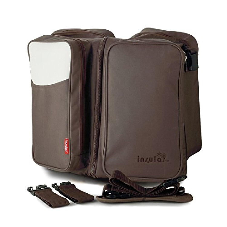 2 in 1 マザーズバッグ 旅行 ベビーベッド ベビーカー収納バッグ オムツ替え トートバッグ おむつバッグ 多機能 消臭抗菌 大容量 ナイロン (ブラウン)