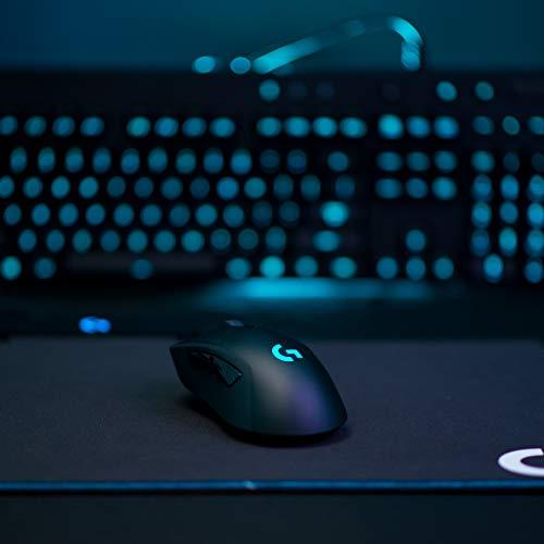 『Logicool G ゲーミングマウス ワイヤレス G703d ブラック LIGHTSPEED 無線 エルゴノミクス ゲームマウス LIGHTSYNC RGB POWERPLAY ワイヤレス充電 G703 国内正規品 2年間メーカー保証』の5枚目の画像