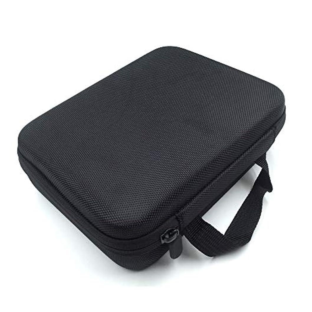周囲伝説味付け[RADISSY] アロマポーチ エッセンシャルオイル ケース 収納ボックス メイクポーチ 30本用 (ブラック)