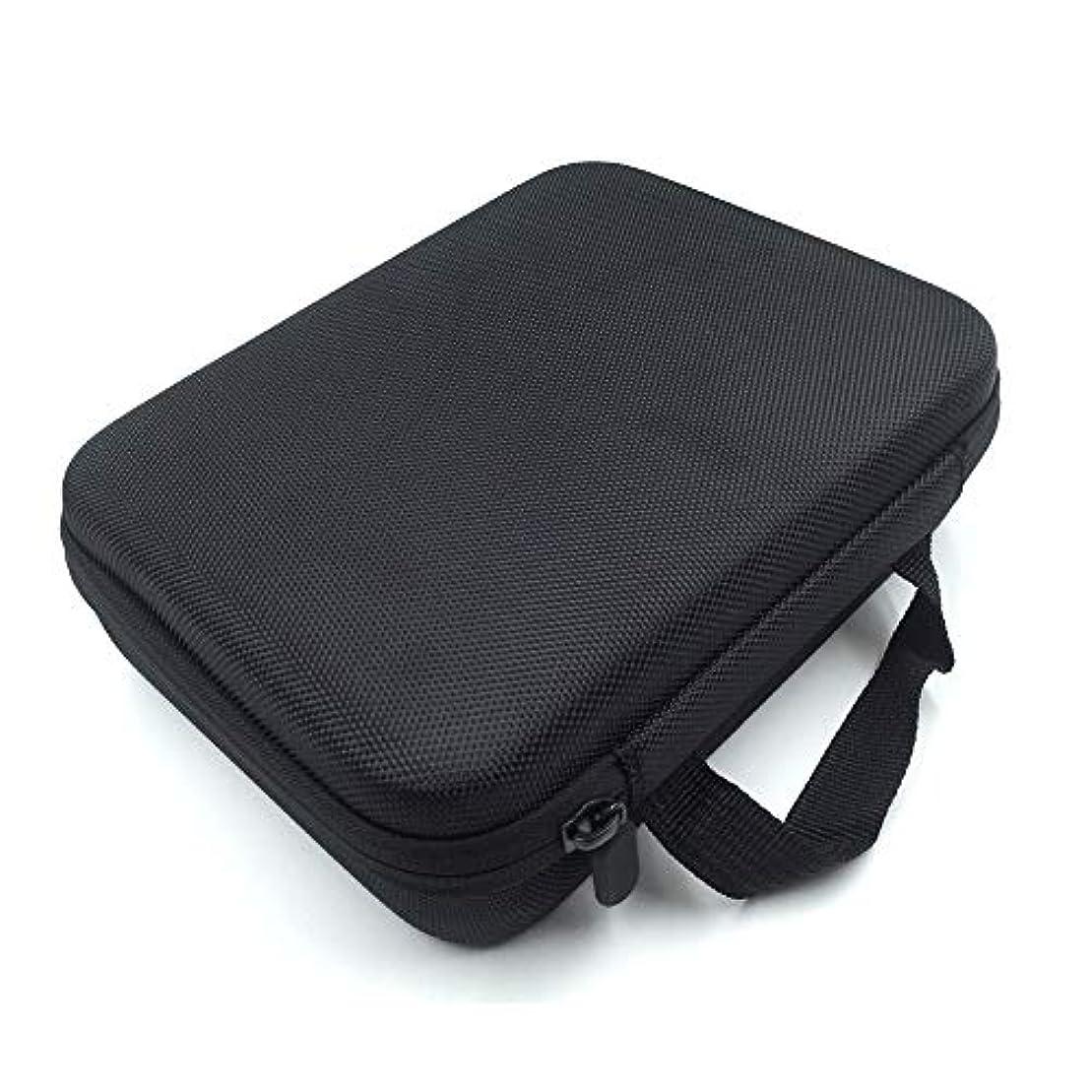シエスタナース予言する[RADISSY] アロマポーチ エッセンシャルオイル ケース 収納ボックス メイクポーチ 30本用 (ブラック)
