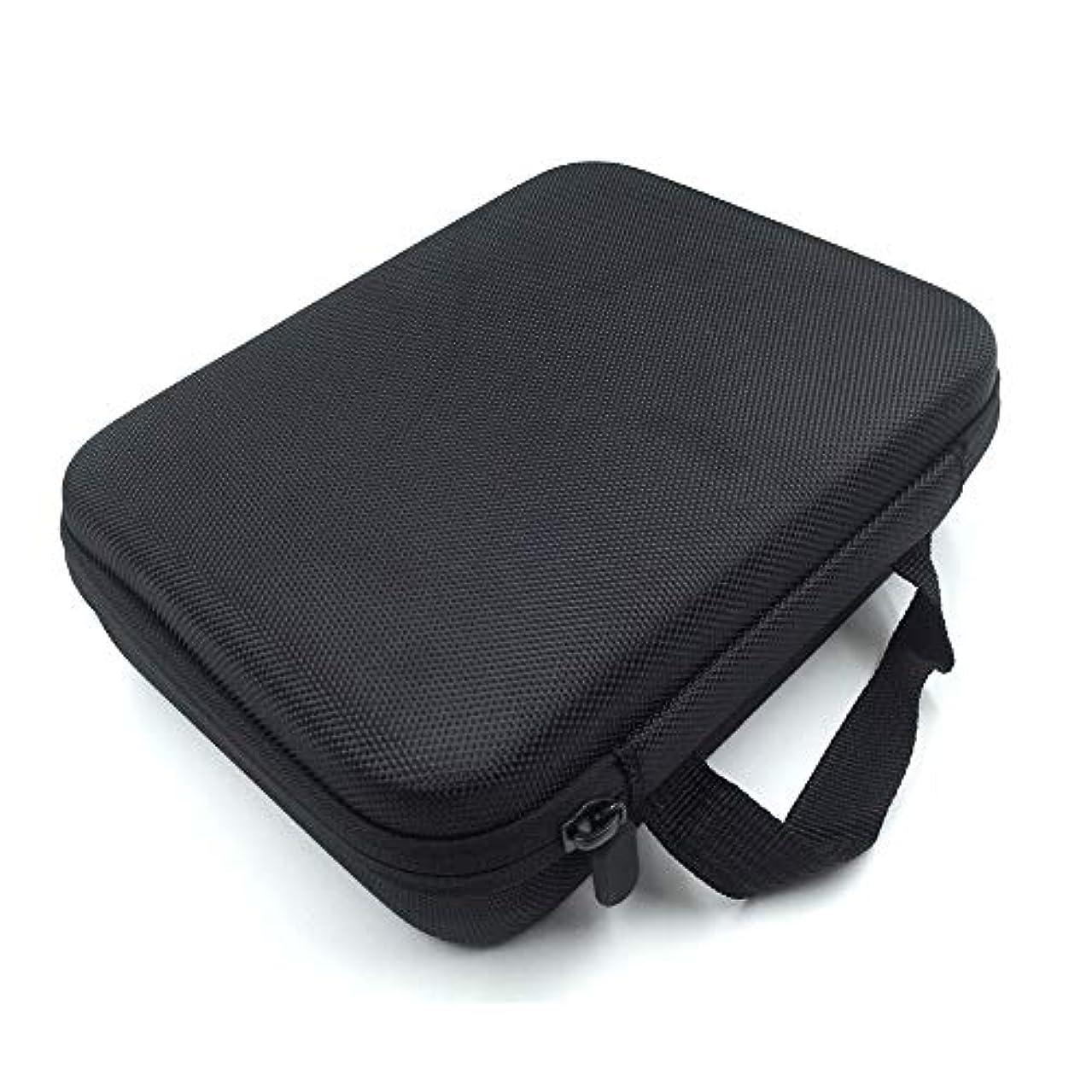 限定保存指定する[RADISSY] アロマポーチ エッセンシャルオイル ケース 収納ボックス メイクポーチ 30本用 (ブラック)