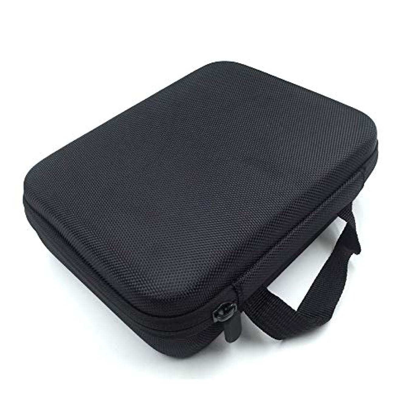 タヒチセクタ童謡[RADISSY] アロマポーチ エッセンシャルオイル ケース 収納ボックス メイクポーチ 30本用 (ブラック)