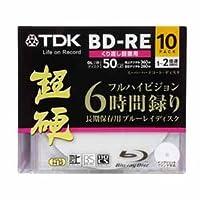 BEV50HCPWA10ABK | TDK 録画用BD-RE DL 50GB 10枚2倍速 ワイドプリンタブル超硬シリーズ