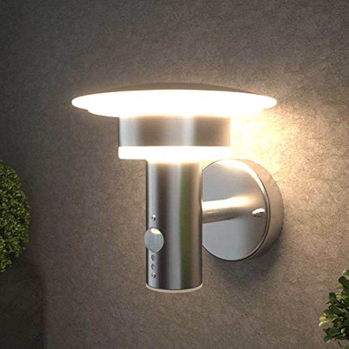 核中止しますリーダーシップNBHANYUAN Lighting センサー付き LED 夜間自動点灯 ブラケットライト 玄関灯 門灯 庭園灯 屋外 壁面用 照明器具 洋式 現代デザイン 防水レベル=IP64 9.5W 銀色 取付簡単