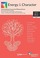 Energy & Character - Volume 8 N.3: International Journal of Biosynthesis