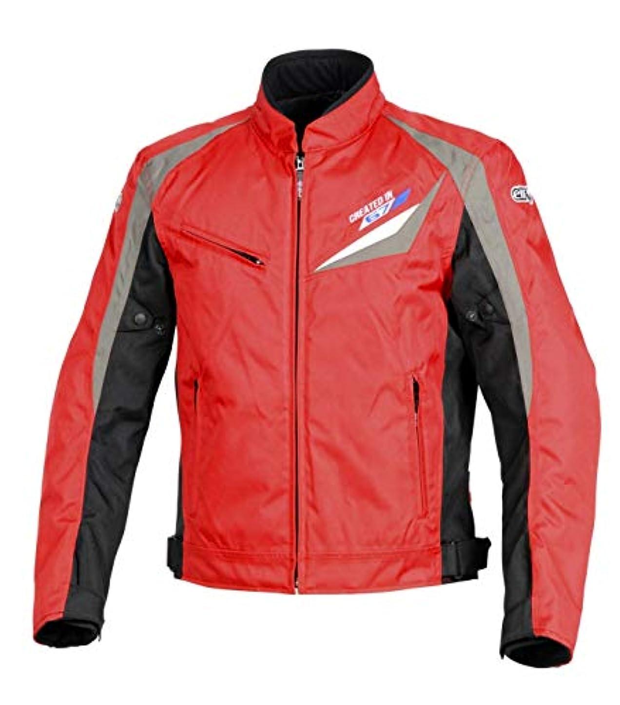野生アンカーポケットエルフ(ELF) バイク用ブルゾン Nylon Blouson(ナイロンブルゾン) レッド M EL-8241