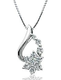 [ミワホウセキ] miwahouseki 10石のダイヤに心を込めて アニバーサリー テン ホワイト ゴールド ダイヤモンド 0.3ct ネックレス [662073]