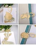 【4枚セット】植物シリーズ(葡萄?菊花?富貴花?蓮) 黄銅製ブックマーク plant bookmark