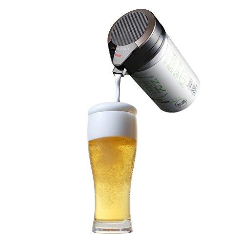 グリーンハウス ワンタッチビールサーバー 缶ビール 用 超音波式 ブラック ...