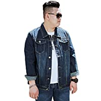 ジャケット メンズ デニム 紺 ジャケット ヒップホップ 汎用性高い ファッション 快適 きれいめ トレンド 8XL アウターウエア 春 秋 スタイル 無地 オシャレ 軽やか