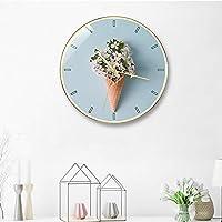 掛け時計 ウォールクロックリビングルームのベッドルームクォーツ時計ミュート現代クリエイティブファッション装飾時計12インチ JPYLY