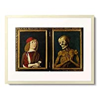 Meister, Baseler,um 1487 「Bildnis des Hieronymus Tschekkenburlin mit dem Tod. Diptychon.」 額装アート作品