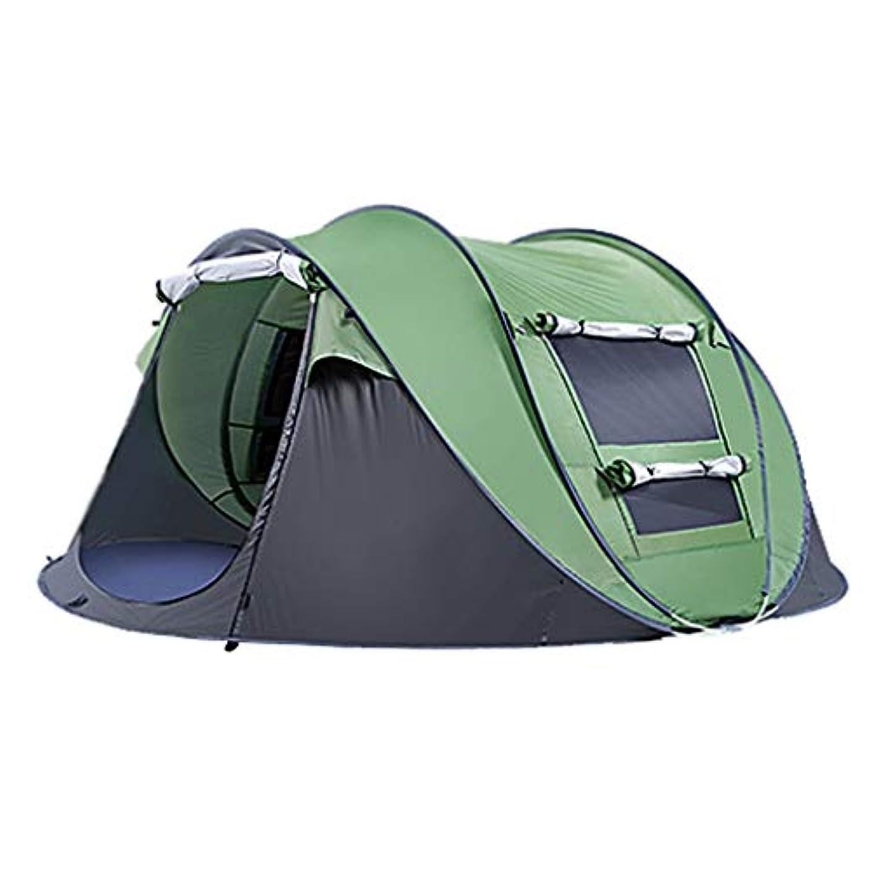 連結する余韻コミットメント4-5人キャンプテント、自動インスタントポップアップ3シーズンテント紫外線保護バックパックテントハイキングピクニックビーチ屋外