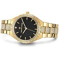 """Timothy Stone Womens Watches Swarovski Crystal Dial and Bezel""""Gala"""" Quartz Wrist Watch"""