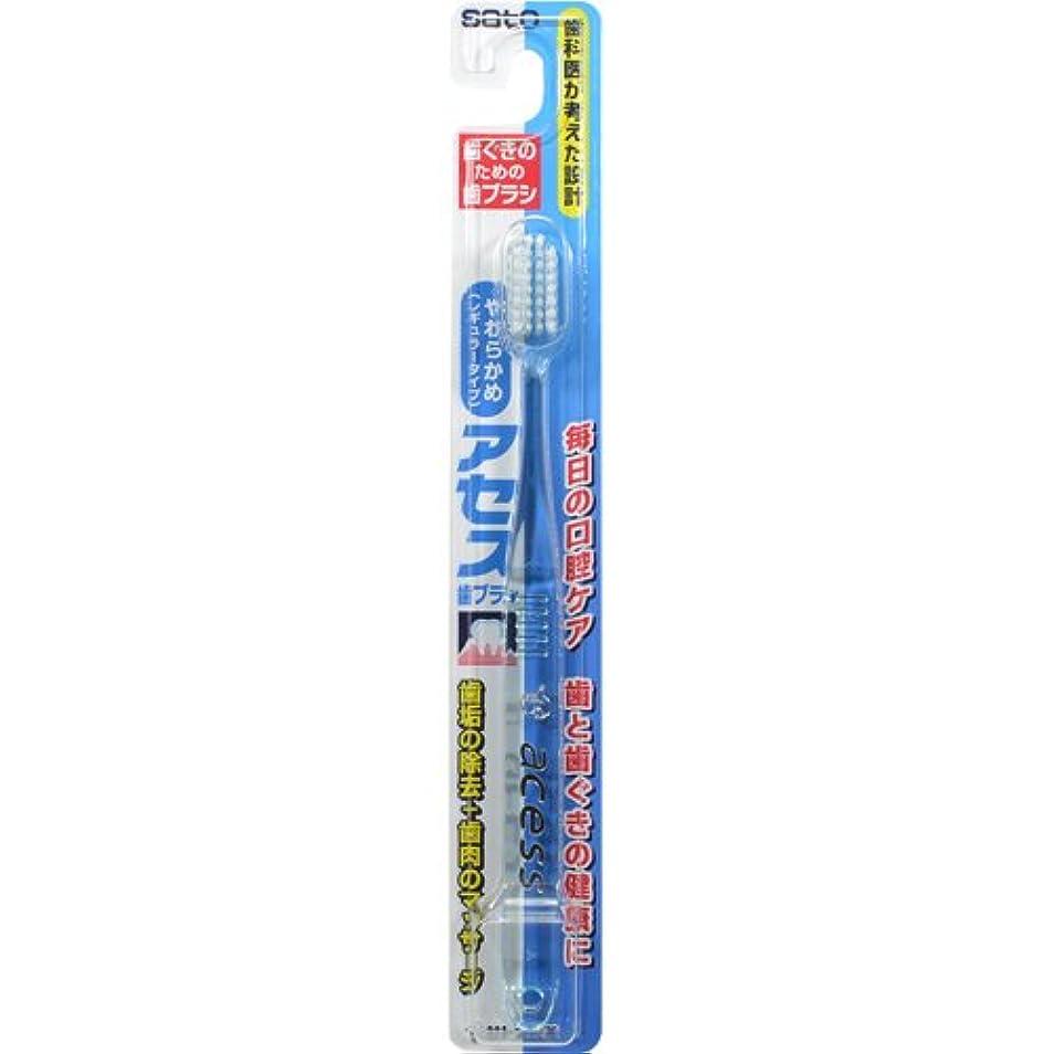 海ライターまっすぐ佐藤製薬 アセス歯ブラシ やわらかめレギュラータイプ 1本