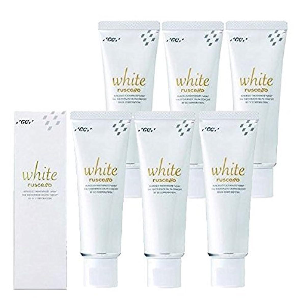 グラムエンゲージメント準備ができてルシェロ歯磨きペースト ホワイト 100g×6本 ホワイトニング 歯磨き粉 歯科専売品