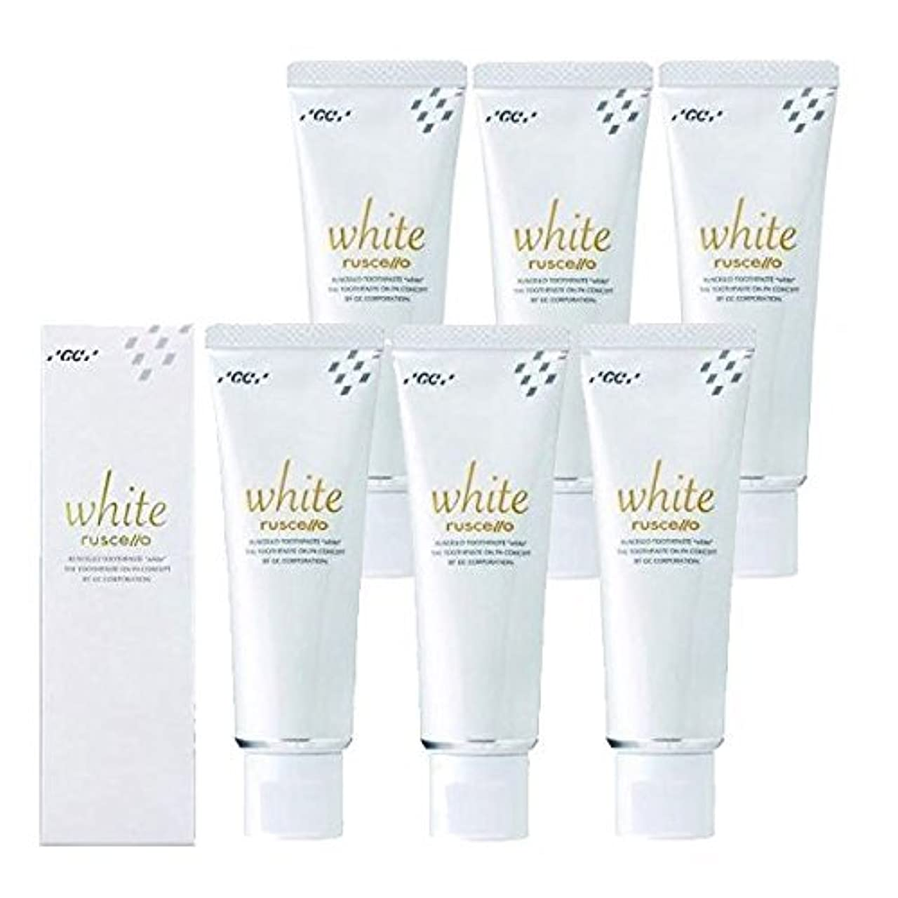 防衛何か耐えるルシェロ歯磨きペースト ホワイト 100g×6本 ホワイトニング 歯磨き粉 歯科専売品