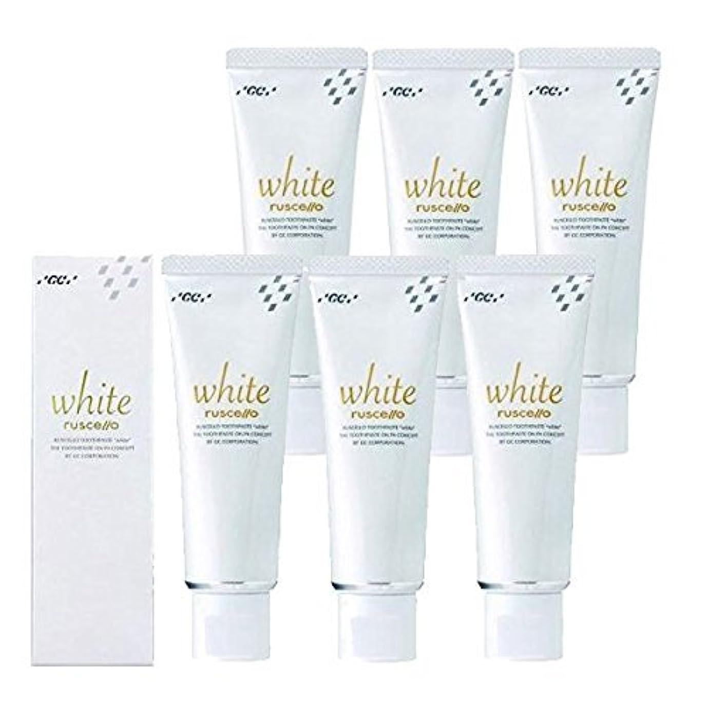 監督する白い適応するルシェロ歯磨きペースト ホワイト 100g×6本 ホワイトニング 歯磨き粉 歯科専売品 ルシェロホワイト