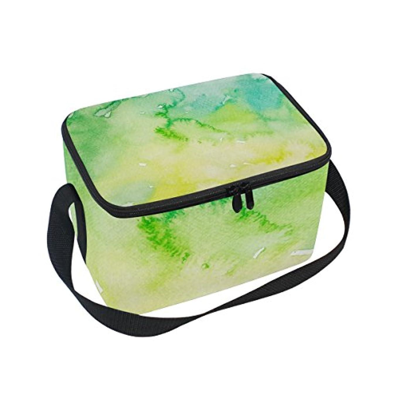 パッケージ月曜悩むクーラーバッグ クーラーボックス ソフトクーラ 冷蔵ボックス キャンプ用品 インク 緑 保冷保温 大容量 肩掛け お花見 アウトドア