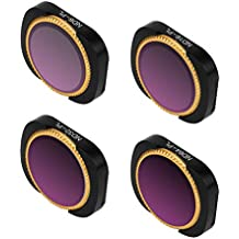 Auppova A Set of Lens Filter Compatible with DJI Osmo Pocket Camera, 4PC(ND8-PL + ND16-PL + ND32-PL + ND64-PL) Camera Lens Filters