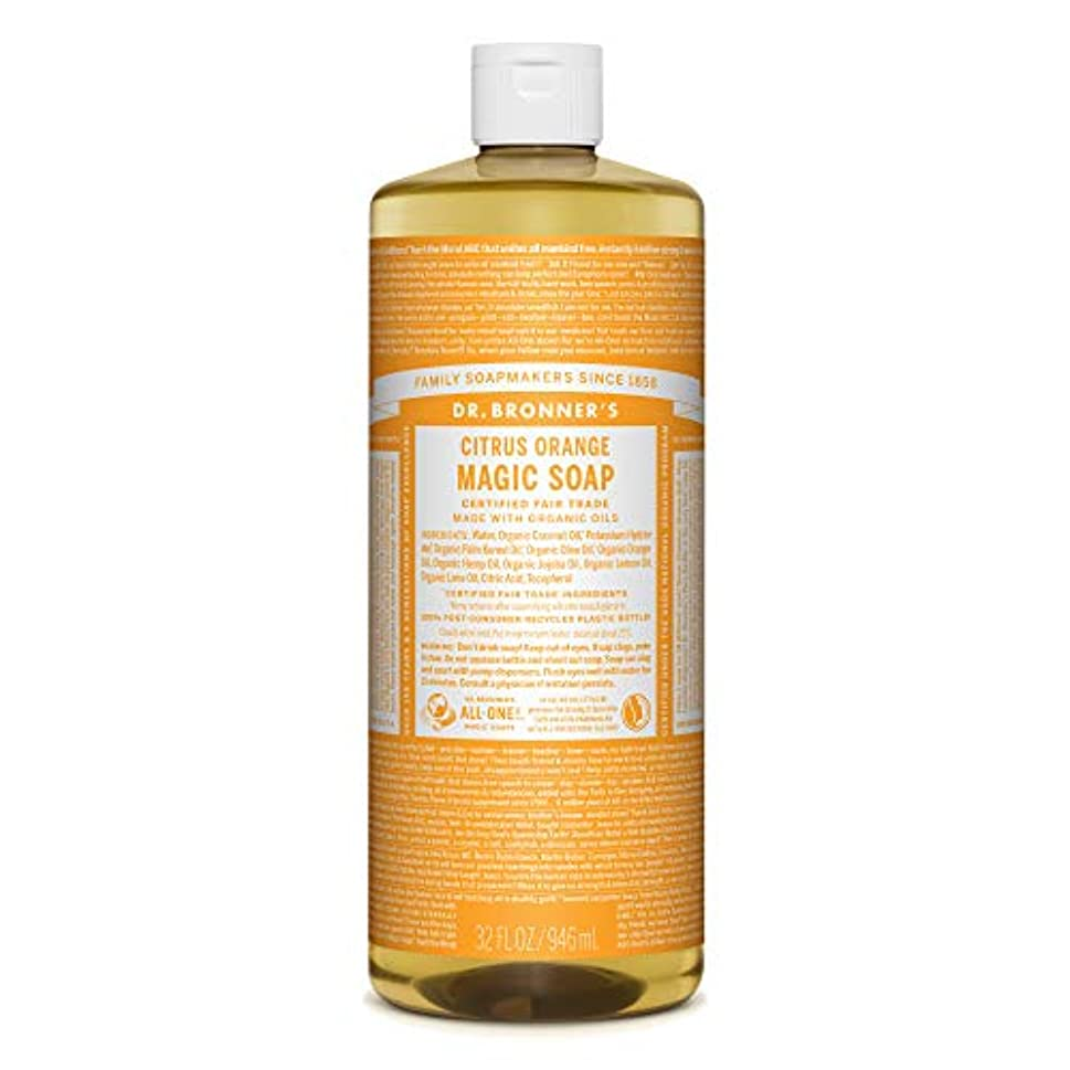 分泌するランドリーお酒ドクターブロナー マジックソープ CI(シトラスオレンジ) 946ml オーガニックソープ