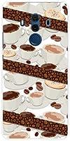 液晶保護フィルム 付 ファーウェイ メイト テン プロ SoftBank TPU ソフトケース コーヒーとコーヒー豆 スマホケース スマホカバー デザインケース
