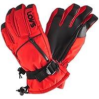 日栄産業メンズ 防水&発熱インナースキーグローブ 手袋 スノーボードグローブ□RED 4920 レッド