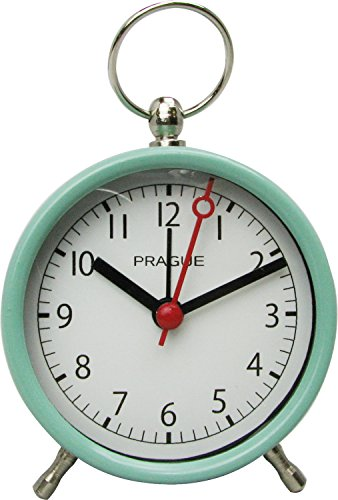 ポマリー カチカチしない アンティーク調 置時計 目覚まし時計 ミントグリーン 400730503