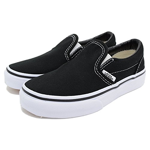 (VANS) VANS 스니커즈 키즈 어린이용 클래식 Slip-on Black/True White(vans VN-000ZBU6BT)- (Size:16cm)